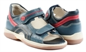Picture of Memo Szafir 3HA Navy Blue Toddler Boy Orthopedic Velcro Sandal