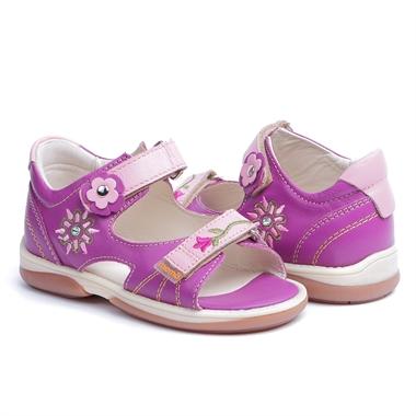 Picture of Memo  Jaspis 3JE Purple-Pink Toddler Girl Orthopedic Velcro Sandal