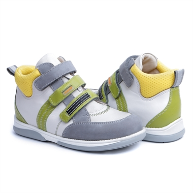Picture of Memo Polo 3AB White Girl & Boy Youth Orthopedic Velcro Sneaker