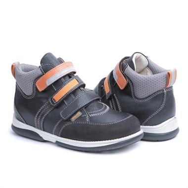 Picture of Memo  Polo 3LA Black Orange Girl & Boy Youth Orthopedic Velcro Sneaker