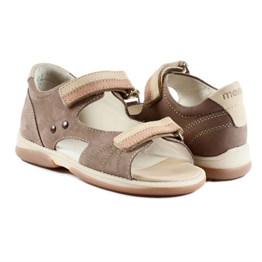 Picture of Memo  Jaspis 1BE Brown Toddler Boy Orthopedic Velcro Sandal