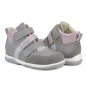 Picture of Memo Polo 3JD Pink Gray Girl Youth Orthopedic Velcro Sneaker