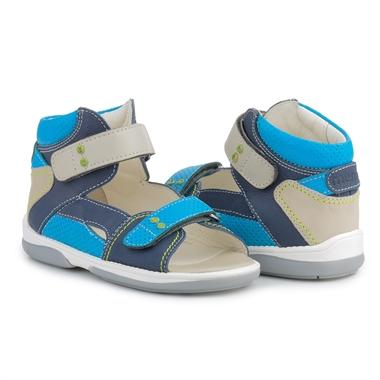 Picture of Memo Monaco 1DA Navy Blue Toddler Boy Orthopedic Velcro Sandal