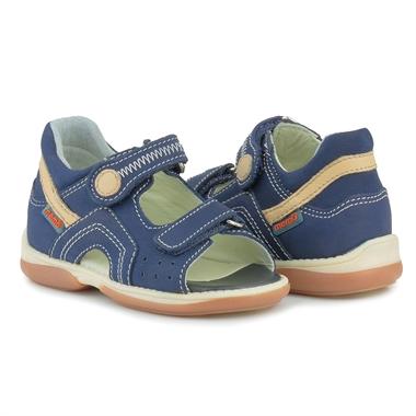 Picture of Memo Szafir 1DA Navy Blue Toddler Boy Orthopedic Velcro Sandal