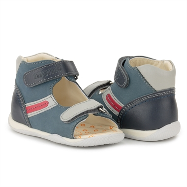 Picture of Memo MIKI 1CH Blue Infant & Toddler Boy First Walking Orthopedic Velcro Sandal