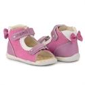 Picture of Memo MINI 1JE Pink Infant & Toddler Girl First Walking Orthopedic Velcro Sandal