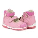 Picture of Memo PRINCESSA 3JE Pink Nubuk Toddler Girl Orthopedic Mary Jane Shoe