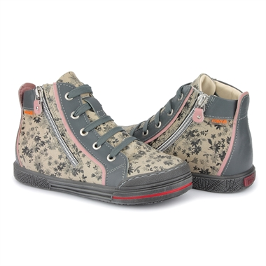 Picture of Memo New York 1BE Floral Beige AFO Kids Corrective Orthopedic Tennis Shoes
