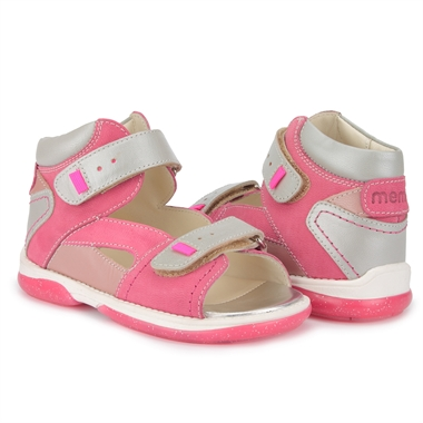 Picture of Memo Monaco 3JD Pink-Gray Toddler Girl Orthopedic Velcro Sandal