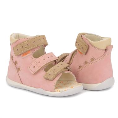 Picture of Memo Dino 1JB Pink Infant & Toddler Girl First Walking Orthopedic Velcro Sandal