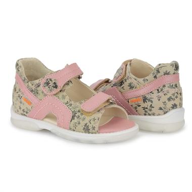 Picture of Memo  Szafir 1FD Floral Toddler Girl Orthopedic Velcro Sandal