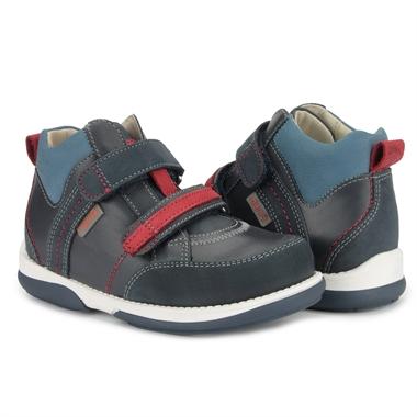 Picture of Memo Polo Junior 3DA Navy Blue Toddler Girl & Boy Orthopedic Velcro Sneaker