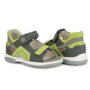 Picture of Memo Szafir 1BC Grey-Green Toddler Boy&Girl Orthopedic Velcro Sandal