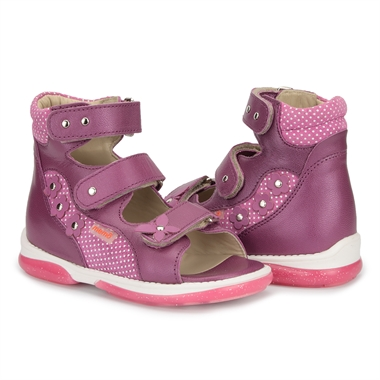 Picture of Memo Agnes Purple Toe Walkers Correcting Sandal For Orthopedic Inserts And Ankle Support