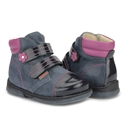 Picture of Memo ALEX 1DA Toddler Girl Corrective Orthopedic Navy Blue Purple Boot