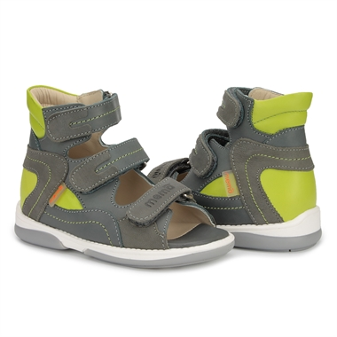 Picture of Memo MICHAEL 1BC Grey-Green Toddler Boy Orthopedic Velcro Sandal