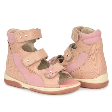 Picture of Memo Agnes Pink Toe Walkers Correcting Sandal For Orthopedic Inserts And Ankle Support
