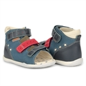 Picture of Memo Dino Navy Blue/Red Infant & Toddler Boy First Walking Orthopedic Velcro Sandal