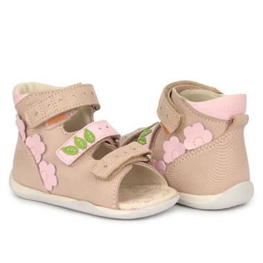 Picture of Memo Dino Beige Infant & Toddler Girl First Walking Orthopedic Sandal