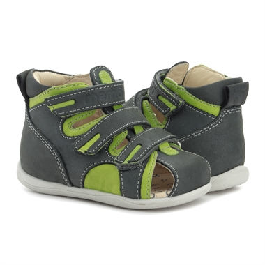 Picture of Memo Bambi First Walking Supportive SMO Brace-Like Orthopedic Sandal Navy Blue